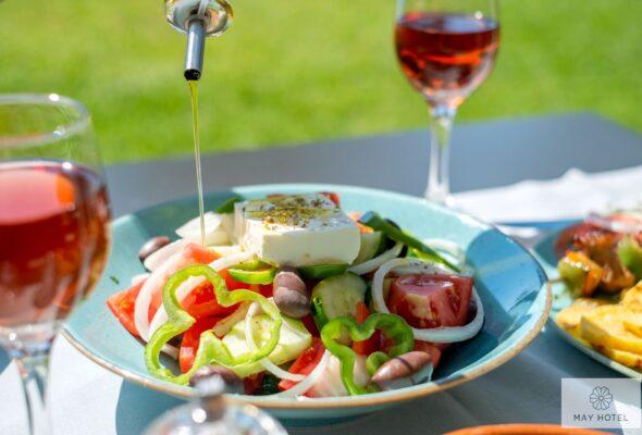 Snack Bar Lunch May Hotel Rethymno Crete 26
